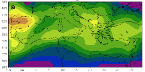 Read more about the article The relation of climate extremes with global warming in the Mediterranean region and its north versus south contrast (article)