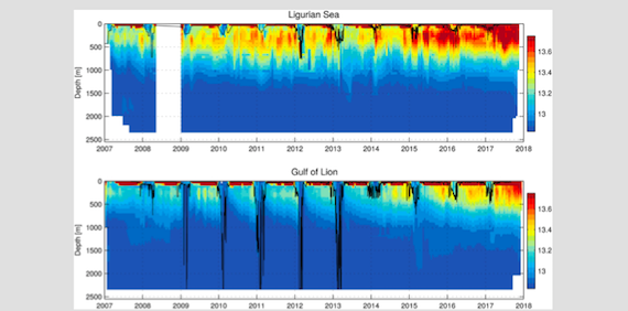 Abrupt warming and salinification of intermediate waters interplays with decline of deep convection in the Northwestern Mediterranean Sea (article)