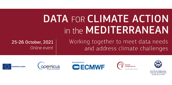 """Read more about the article """"Data for climate action in the Mediterranean"""" workshop, 25-26 October 2021"""