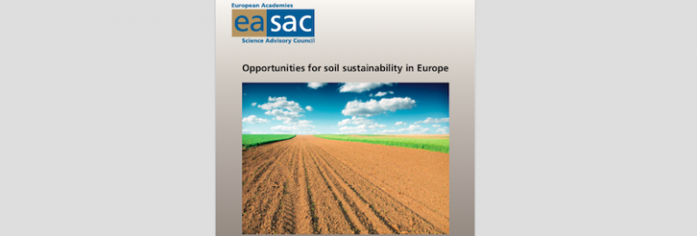 Opportunities for soil sustainability in Europe, EASAC report