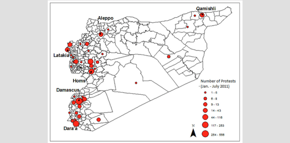 Climatic stress, internal migration, and Syrian civil war onset (article)