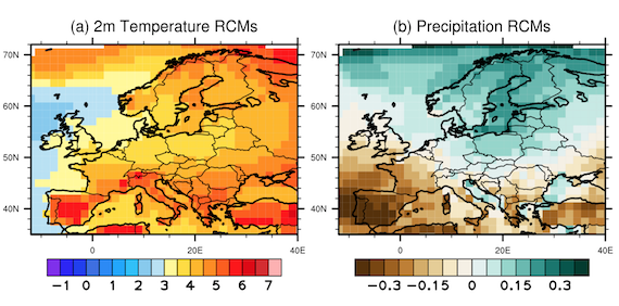 Large discrepancies in summer climate change over Europe as projected by global and regional climate models (article)