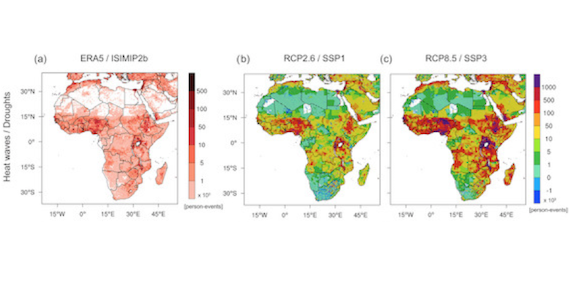 Analysis of Compound Climate Extremes and Exposed Population in Africa under two different Emission Scenarios (article)