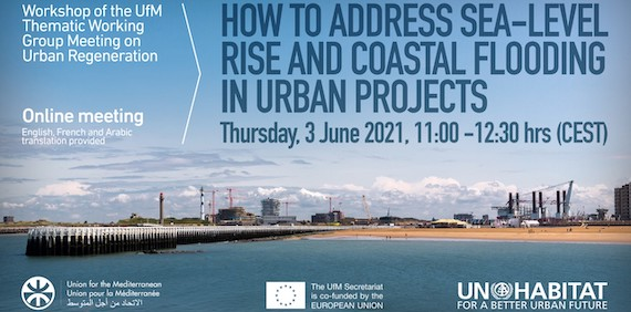 Read more about the article Workshop of the UfM Working Group Meeting on Urban Regeneration: How to Address Sea-level Rise and Coastal Flooding in Urban Projects, 3 June 2021